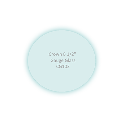 Replacement Pressure Gauge Glass with Target Pointer