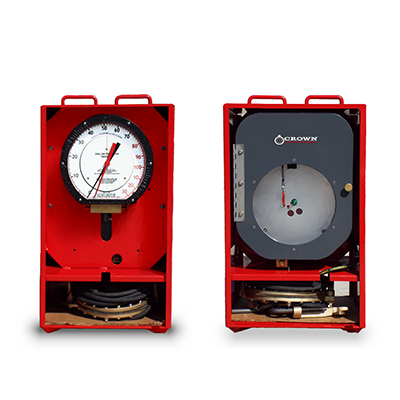 Deflection Weight Indicator and Chart Recorder in Red Box