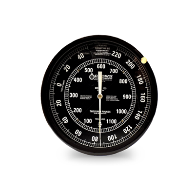 16 Inch Drilling Rig Weight Indicator with Black Dial and 2 Pointers