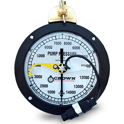 Box Mount Pressure Gauge with Electronic Shut Off Switch